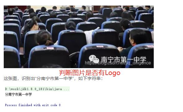Java实现识别图片是否带logo?